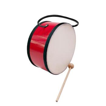 インディアン・ドラム(ノック棒付き)オルフ・子供用の演奏器の実木太鼓の胴に独立した牛革箱包装オルフ天地(Orff world)8寸のインディアン・ドラムTH 8-1