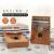 OLPOEY親指の琴のカリンの琴の17音の指の琴の初心者の入門楽器カードのリンパ腺の親指の琴の松木のコーヒーの色の_は贈り物の包みをくわえます