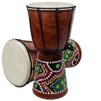 藖泰杭アフリカ鼓アフリカ鼓8寸10寸12寸の子供初心者麗江は羊皮手鼓楽器4寸の工芸太鼓を演奏します。