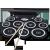 ラクス(LAKESI)手巻ゲーム電子ドラム子供が携帯型折りたたみ式大人打撃システムを演出します。TIXゲームの一般的な9ドラムは外音付きです。