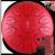 hluru【指カバー付き】空霊ドラム蓮の花と空ドラムの憂えない鼓・無憂鼓・鋼舌宙ドラム成人初心者打楽器8音11音蓮の花の金朱砂色11音10寸(約25 CM)