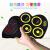 子供用電子ドラムの折り畳み式携帯ジャズドラム学生初心者入門トイズマイン教育道具幼稚園午托班早教訓練機構WG 621黄色