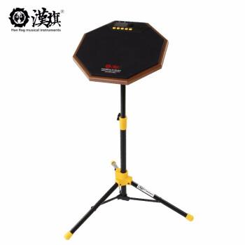 ハングフラッグ(HUN)ドラムハスキーセット12インチのハスキーパッド練習打撃板R 1黒(メトロノーム付き)+Dステー