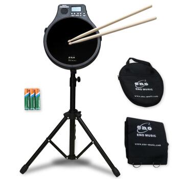ENO伊諾12寸ダミードラムセット静音打撃板ドラムド練習ドラム三合一機能楽器黒ダミードラム+豪華セット