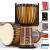 美音天使【8大プレゼント】アフリカ太鼓8寸10寸12インチ子供初心者の麗江さんが羊皮の手鼓楽器を演奏します。標準的に10寸の原木色【6歳以上と大人用】