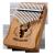 前谷(cega)親指琴17音カリンバージン初心者単板カリンバー指琴思い思い木森の鹿(円弧ガードグラデーション青)